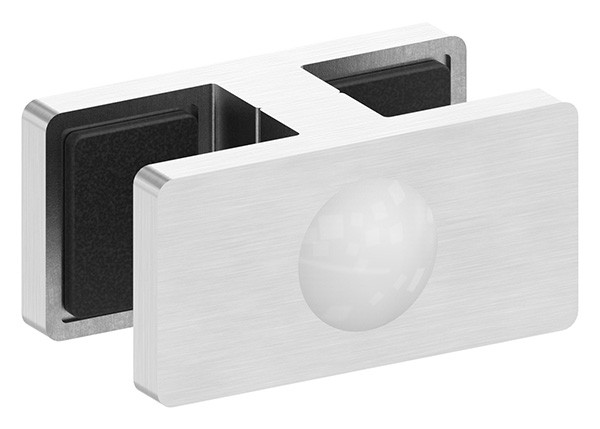 Glasklemme für Ganzglasgeländer für Glas 12,76 - 13,52mm