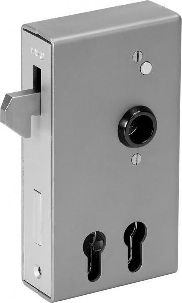 AMF Schloßkasten mit verzinktem Hakenschloß, für zwei Profilzylinder
