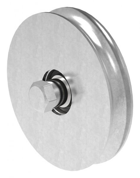 Schiebetorrolle 137mm mit rund Rille