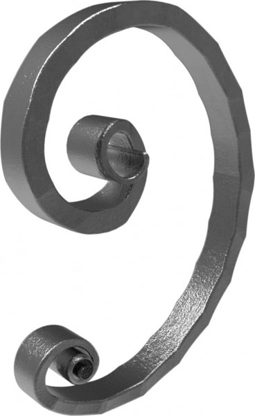 Meisterbarock C-Schnörkel 16x8mm, 145x105mm, links