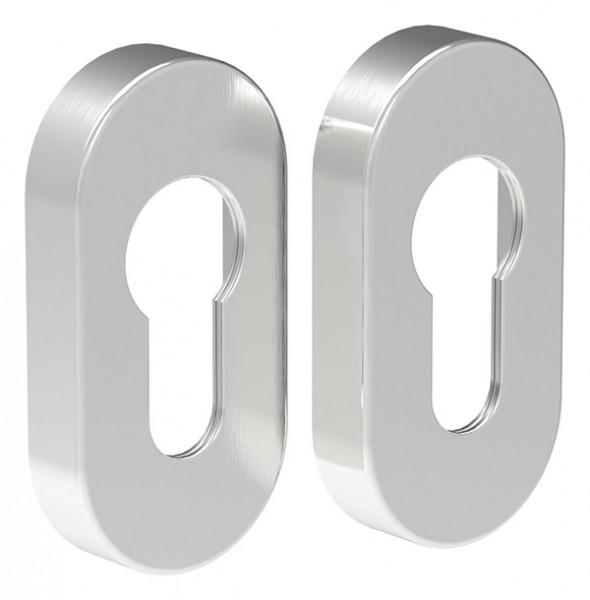 Schlüsselrosetten-Paar, V2A