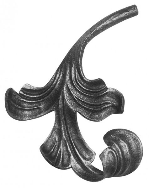 Ländliches Barock Blatt, Ansatz 12mm, 140x160mm, links