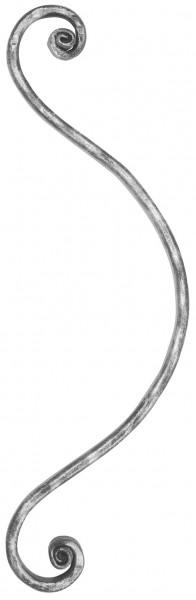 Meisterbarock Schnörkel 16x8mm, 370x115mm