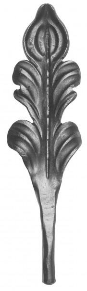 Ländliches Barock Zierblatt, Ansatz 12mm, 225x65mm