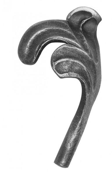 Ländliches Barock Blatt, Ansatz 10mm, 110x60mm, links