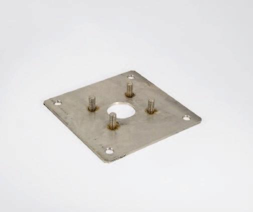 LIFT X Montageplatte Edelstahl zum Anschrauben