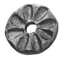 Rosette 8mm, Durchmesser 65mm