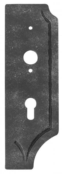 Schloßplatte gelocht rechts