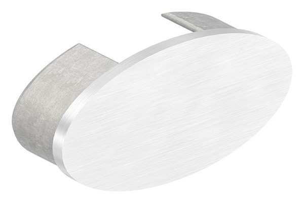 Endkappe, flach, für Oval-Nutrohr