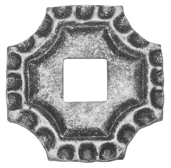 Bodenrosette 5mm, 75x75mm