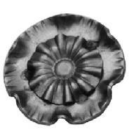 Rosette 2mm, Durchmesser 60mm