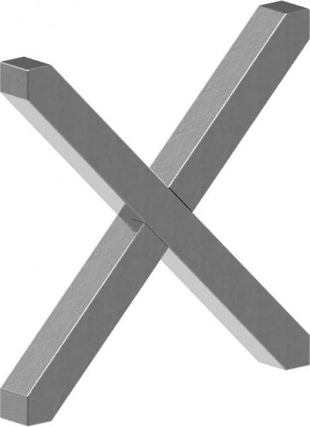 Kreuz 12x12mm, 125x125mm