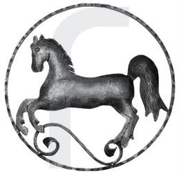 Zierelement Pferd links