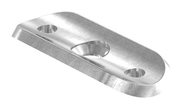 Handlaufanschlußplatte S235JR, Rohranschluss 33,7mm