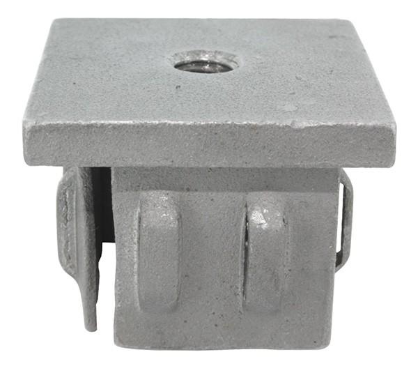 Stahleinschlagkappe, für Quadratrohr 50x50mm