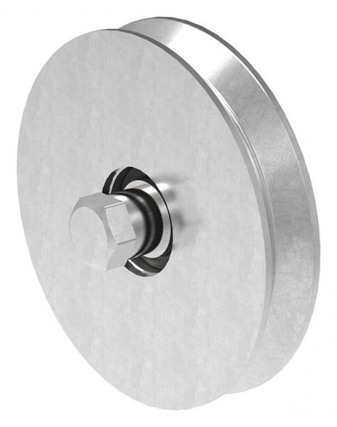 Schiebetorrolle 137mm mit V-Rille