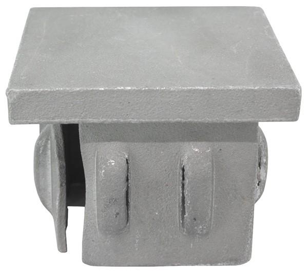 Stahleinschlagkappe, für Quadratrohr 25x25mm