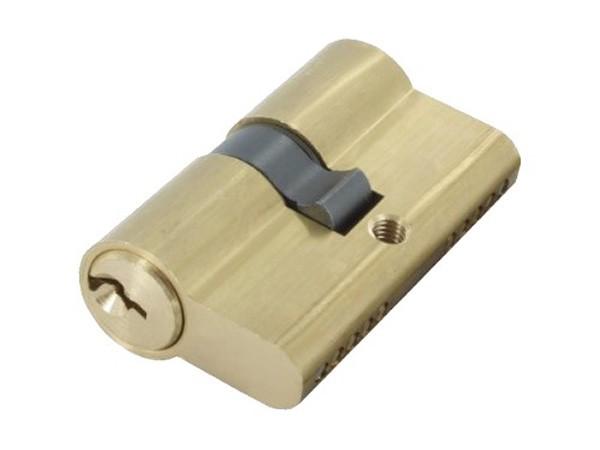 Profilzylinder aus Messing, mit 3 Schlüssel, gleichschließend