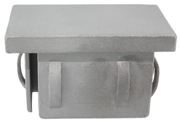 Stahleinschlagkappe, für Rechteckrohr 60x40mm