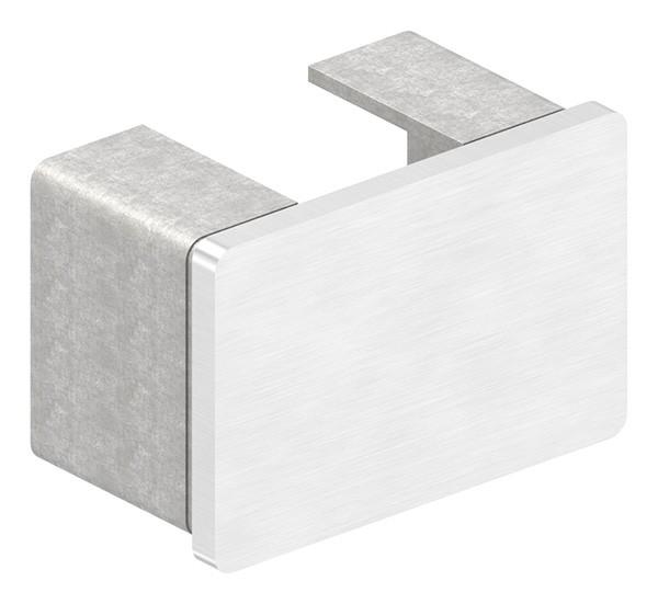 Endkappe, flach, für Rechteck-Nutrohr 60 x 40 x 1,5mm