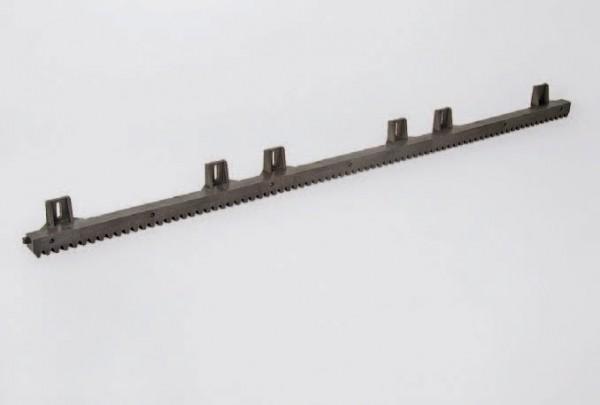 Zahnstange Kunststoff mit Stahlkern, Lasche oben