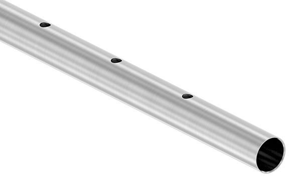 Edelstahlrohr, gerade gelocht, 42,4 x 2,0mm, Länge: 3000mm
