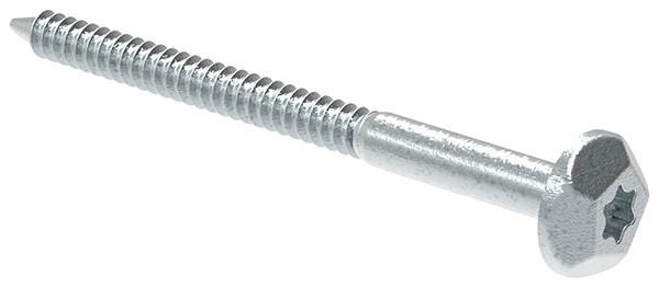 Sicherheitsschraube 10x105 Stahl verzinkt