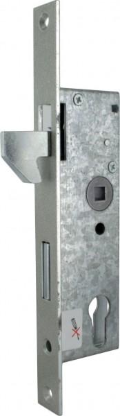 Rohrprofilschloss mit Hakenfalle verzinkt mit Dornmaß 35mm
