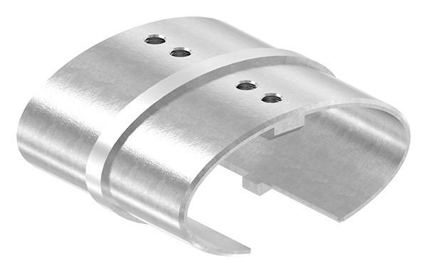 Verbinder 180° für Ovalnutrohr 80 x 40mm mit Nut 24 x 24mm