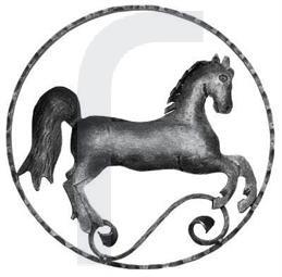 Zierelement Pferd rechts