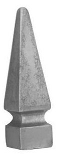 Zaunspitze Ansatz 30x30mm, Höhe 153mm