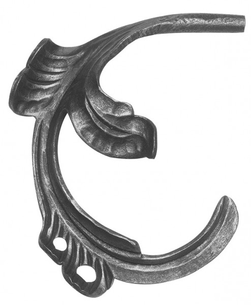 Ländliches Barock Blatt, Ansatz 12mm, 160x170mm, links