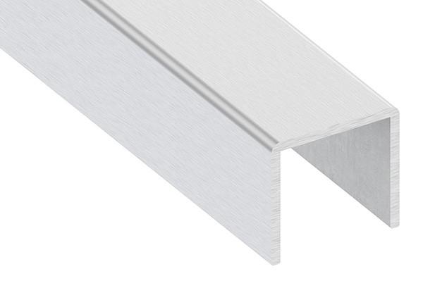 Edelstahl-U-Profil, 28 x 26 x 2mm, Länge: 6000mm