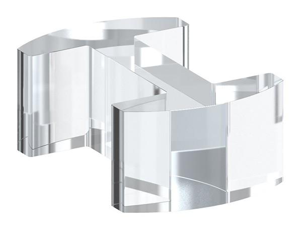Glasausrichter aus Kunststoff für Ganzglasgeländer für Glas 20,76 - 21,52mm