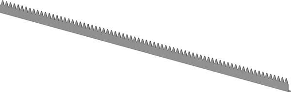 Zackenleiste S235JR, 45x12x3mm, verzinkt, Länge 2000mm