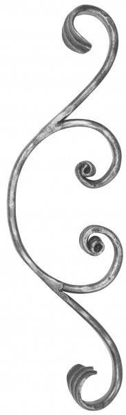 Meisterbarock Schnörkel 16x8mm, 105x365mm