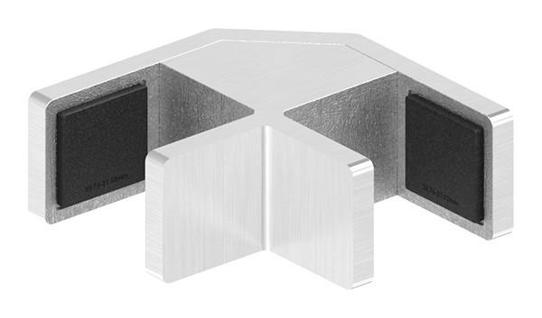 90° Eckglasklemme für Ganzglasgeländer für Glas 20,76 - 21,52mm