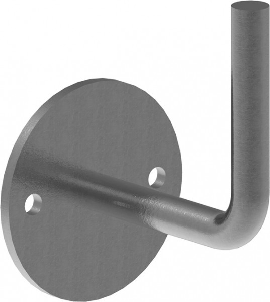 Handlaufträger mit Ronde flach 70x4mm