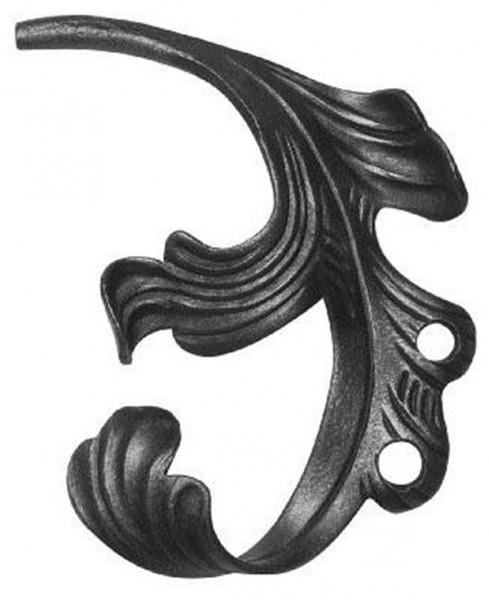 Ländliches Barock Blatt, Ansatz 12mm, 140x200mm, rechts