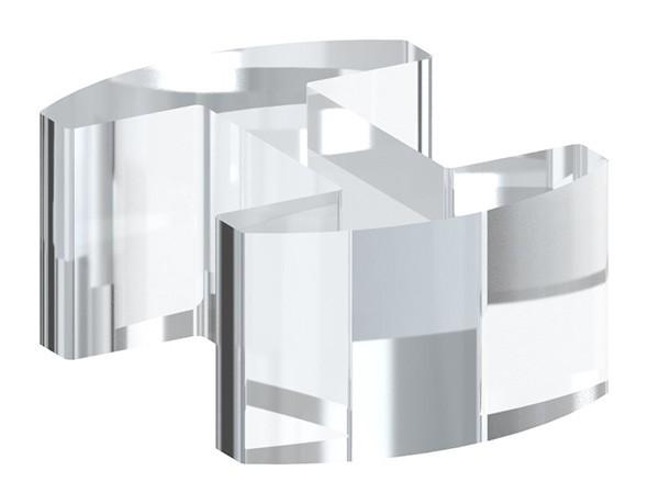 Glasausrichter aus Kunststoff für Ganzglasgeländer für Glas 16,76 - 17,52mm