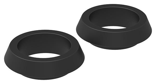 1 Paar Kunststoffringe, Farbe: schwarz