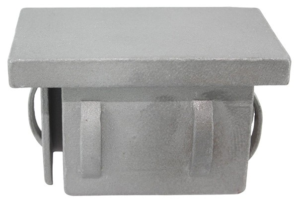 Stahleinschlagkappe, für Rechteckrohr 40x20mm