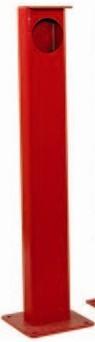 Metallsäule für LS26, für PKW, rot lackiert