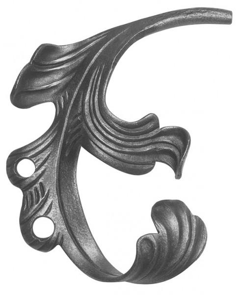 Ländliches Barock Blatt, Ansatz 12mm, 140x200mm, links