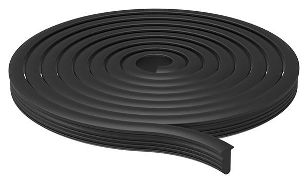 Abschlussdichtung oben, EPDM 80+-5° Shore, schwarz, für Gummiset 80501-GU